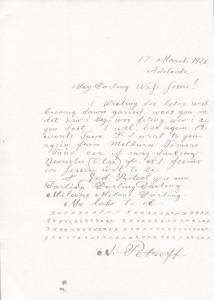 Alexander Petroff's letter