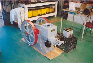 Simplicity engine restored by Clarie Milne on display at Chapman Valley Museum