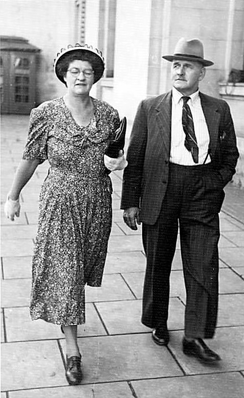 Walter is pictured with his wife, May Brenkley circa19??.