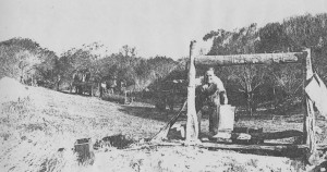Geoff Simpson drawing water for the home at Kooyong Tenindewa 1930s