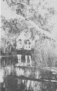 Ralph (left) and Jack cooling off at Nundemarra Pool