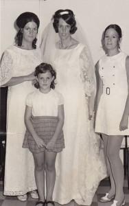 Dunkin Girls (L-R) Jan, Gill, Bride, Karen