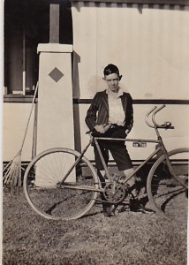Young Dick with his Geraldton bike